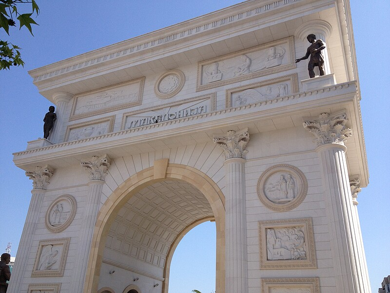 A triumphal arch for Skopje